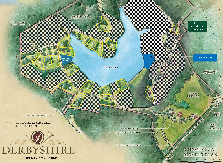 Community Map Derbyshire Gated Community In North Carolina